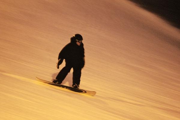 Enviar foto de Snowboarder at Tryvann Vinterpark near Oslo de Noruega como tarjeta postal eletrónica