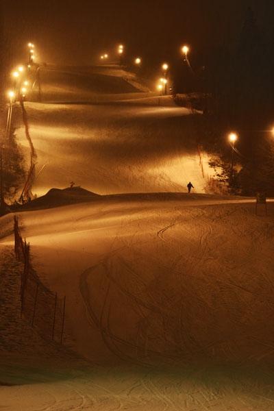 Stuur foto van Wyller ski slope at Tryvann Vinterpark van Noorwegen als een gratis kaart