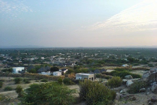 Send picture of View over Mithi from Pakistan as a free postcard