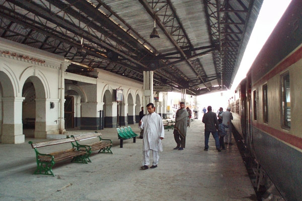Send picture of Sibi train station from Pakistan as a free postcard