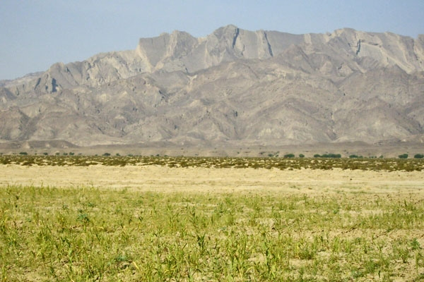 Spedire foto di Fields and mountain in southern Pakistan di Pakistan come cartolina postale elettronica