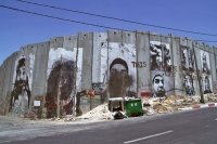Foto van Pictures on the separation wall in Bethlehem - Palestinian Territories