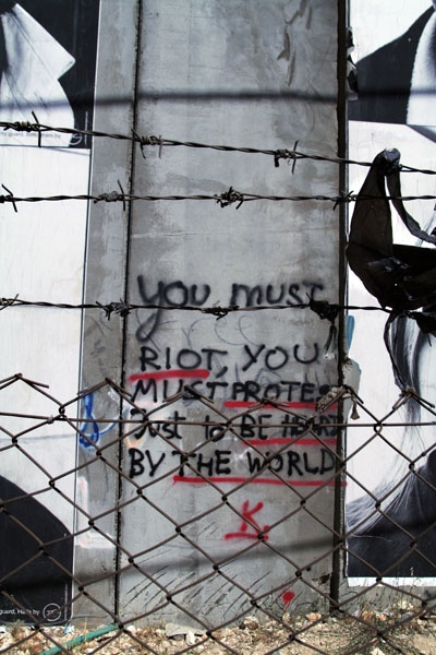 Send picture of Writing on the wall, Bethlehem from Palestinian Territories as a free postcard