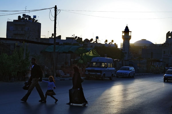 Send picture of Dusk in Nablus from Palestinian Territories as a free postcard