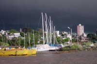 Foto van Boats in a small Paraguay harbor - Paraguay
