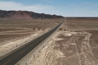 Foto van The Pan-American highway in southern Peru - Peru