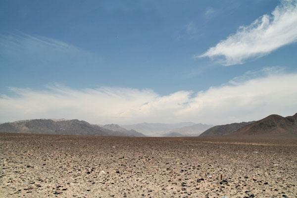 Send picture of Desert landscape in Nazca from Peru as a free postcard