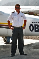 Foto di Pilot who flies people over the Nazca desert in a Cessna plane - Peru
