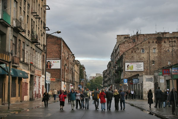 Send picture of Street in Praga neighborhood in Warsaw from Poland as a free postcard