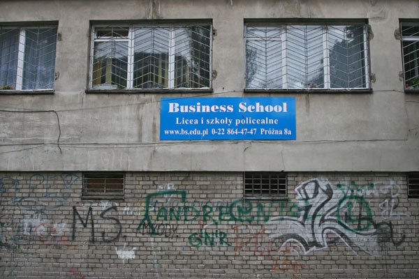 Send picture of Business school in Warsaw from Poland as a free postcard