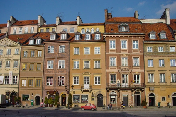 Send picture of Central Square in Warsaw from Poland as a free postcard