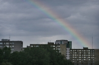Foto van Rainbow over Warsaw - Poland