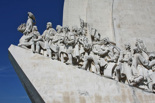 Send picture of Various explorers on the Monument to the Discoveries from Portugal as a free postcard