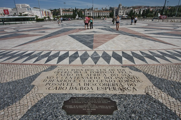 Send picture of Pavement by  Monument to the Discoveries in Lisbon from Portugal as a free postcard
