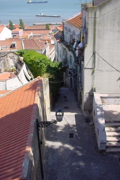Small street leading to the river Tejo