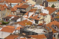 Foto van View over Lisbon rooftops - Portugal
