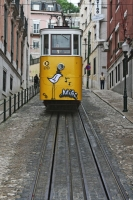 Picture of Tram in a steep Lisbon street - Portugal