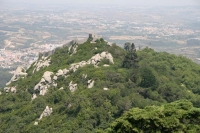 Foto van View over the beautifully located Moorish Castle - Portugal