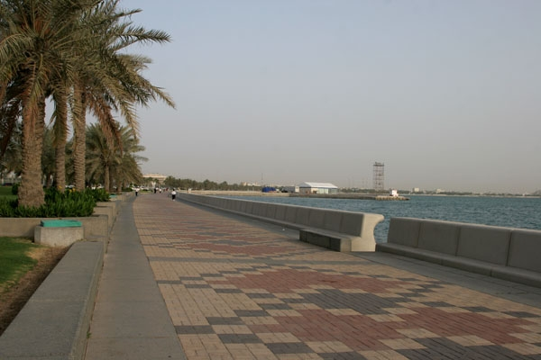 Send picture of The corniche in Doha from Qatar as a free postcard