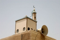 Foto van Close-up of a Doha minaret - Qatar