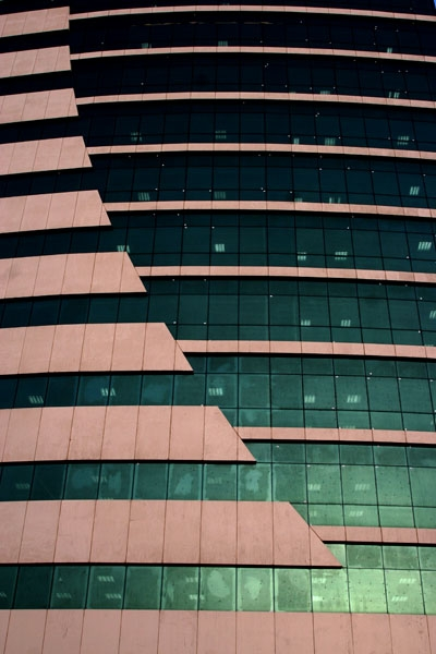 Send picture of Close-up of a Doha building from Qatar as a free postcard