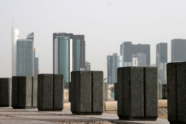 Send picture of Corniche and skyline in Doha from Qatar as a free postcard