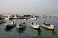 Foto van Small boats in the Doha harbor - Qatar