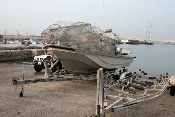 Send picture of Fishing boat in Doha from Qatar as a free postcard