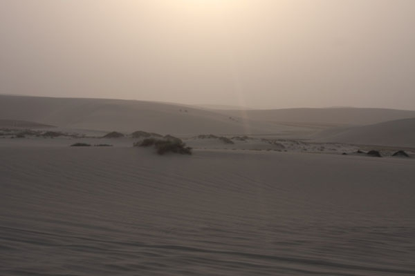 Send picture of Sun scorching the desert of Qatar from Qatar as a free postcard