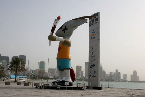Enviar foto de Orry, the official mascot of the 2006 Asian Games de Qatar como tarjeta postal eletrónica