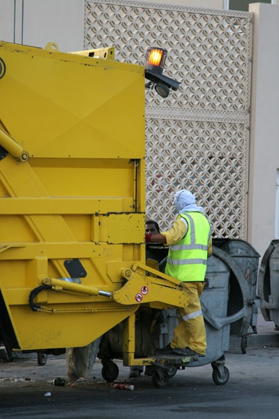 Spedire foto di Trash collector in Doha di Qatar come cartolina postale elettronica