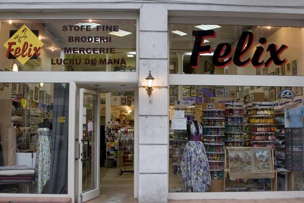 Send picture of Fabric shop in Bucharest from Romania as a free postcard