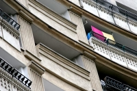 Picture of Balconies in a Bucharest apartment building - Romania