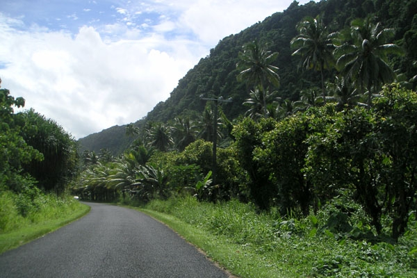 Send picture of Asphalt road in Samoa from Samoa as a free postcard
