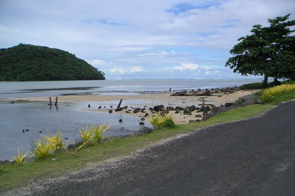 Send picture of Road by the sea from Samoa as a free postcard