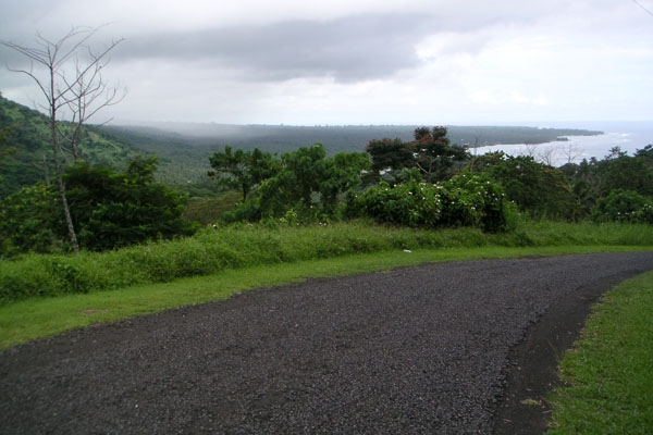 Send picture of Mountain road in Samoa from Samoa as a free postcard