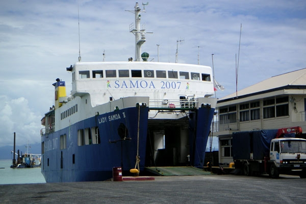 Send picture of Ferry in Samoa from Samoa as a free postcard