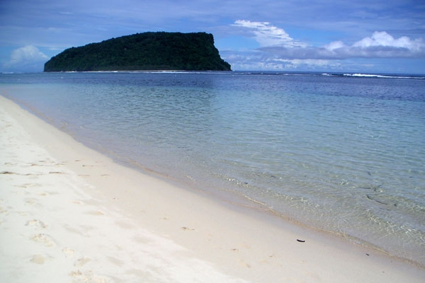 Send picture of Beach in south-east Samoa from Samoa as a free postcard
