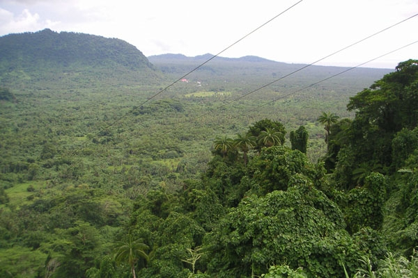 Send picture of Green landscape of Samoa from Samoa as a free postcard