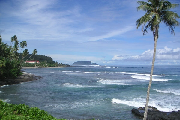 Send picture of Coast on southern Samoa from Samoa as a free postcard