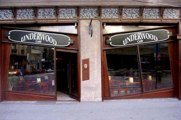 Stuur foto van Underwood café in Belgrade van Servië als een gratis kaart