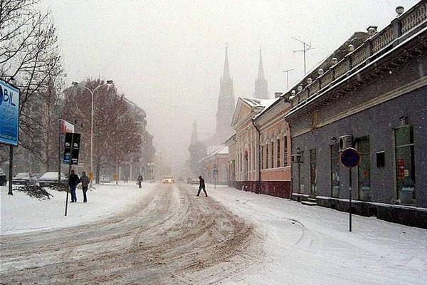 Enviar foto de Vuka Karadzica street in Vrsac de Serbia como tarjeta postal eletrónica