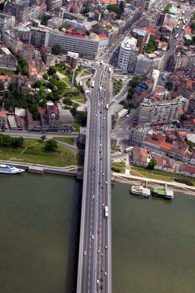 Send picture of Bridge over the Sava from Serbia as a free postcard