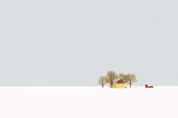 Stuur foto van Lonely house in Banat (part of Vojvodina) van Servië als een gratis kaart
