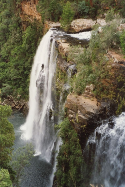 Send picture of Waterfall in Drakensberg, eastern South Africa from South Africa as a free postcard