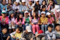 Picture of Korean children at Gyeongbokgung Palace in Seoul - South Korea