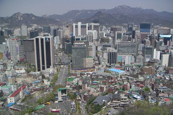 Send picture of View over Seoul from South Korea as a free postcard