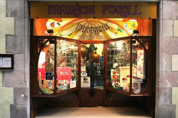 Send picture of Farmacy in Barcelona from Spain as a free postcard
