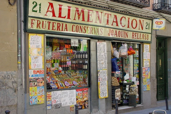 Send picture of Grocery store in Madrid from Spain as a free postcard