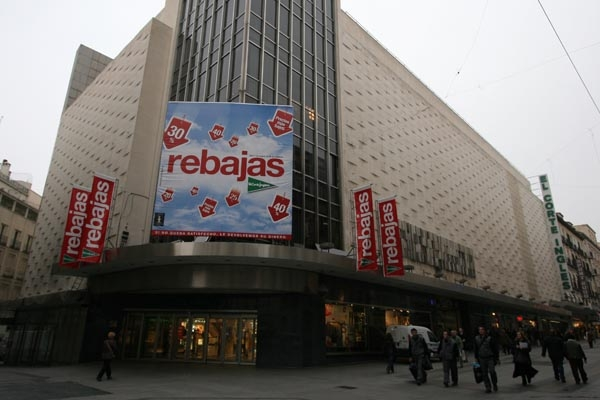 Send picture of Shopping mall in Madrid from Spain as a free postcard